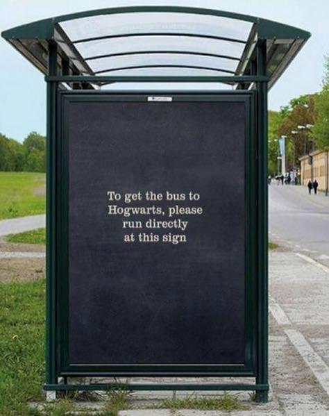 funny memes hogwarts bus sign