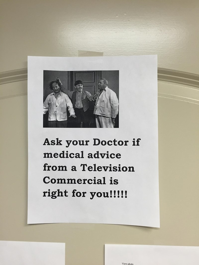 funny memes medical advice from a commercial