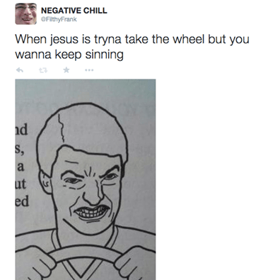 jesus,sin,jesus take the wheel