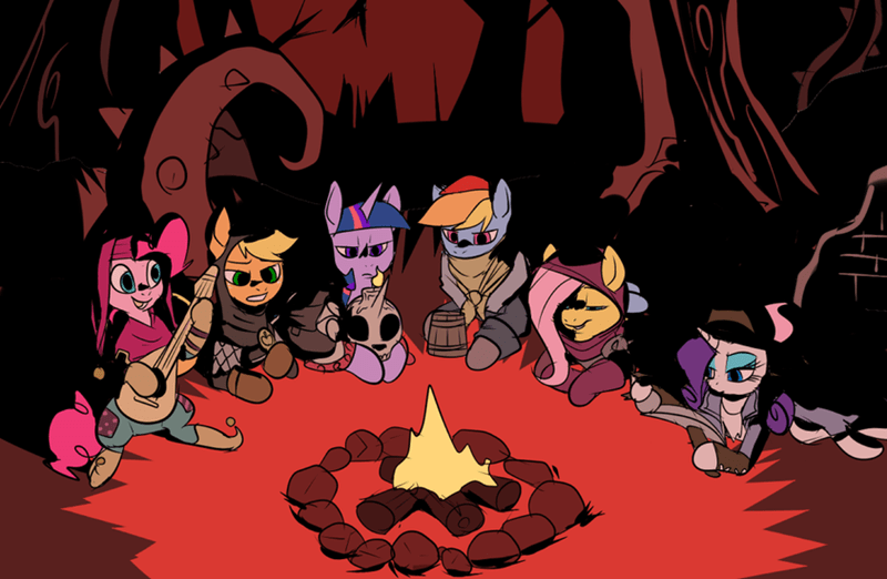 applejack darkest dungeon twilight sparkle pinkie pie rarity fluttershy rainbow dash - 8754349056