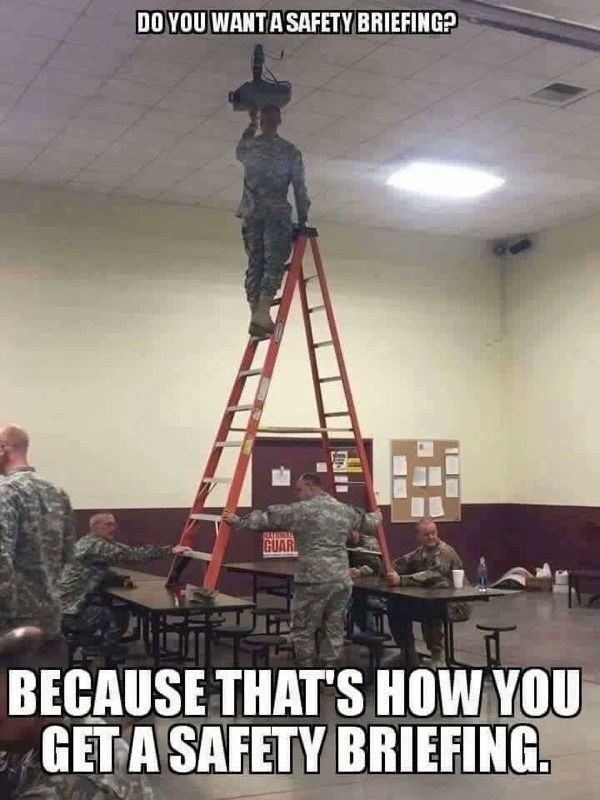 ladder military army safety