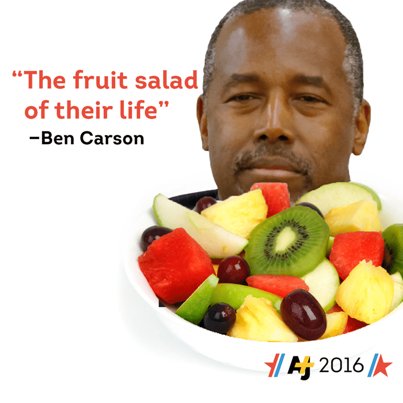 ben carson presidential campaign fruit Ben Carson Truly Knows the Measure of a Man (or Woman)