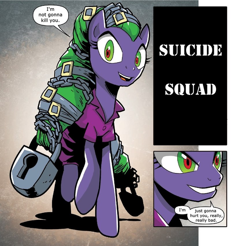 the joker,mane-iac,idw comics,power ponies,suicide squad