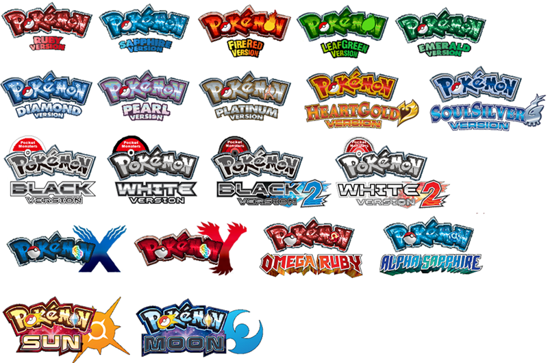 logos,pokemon sun and moon