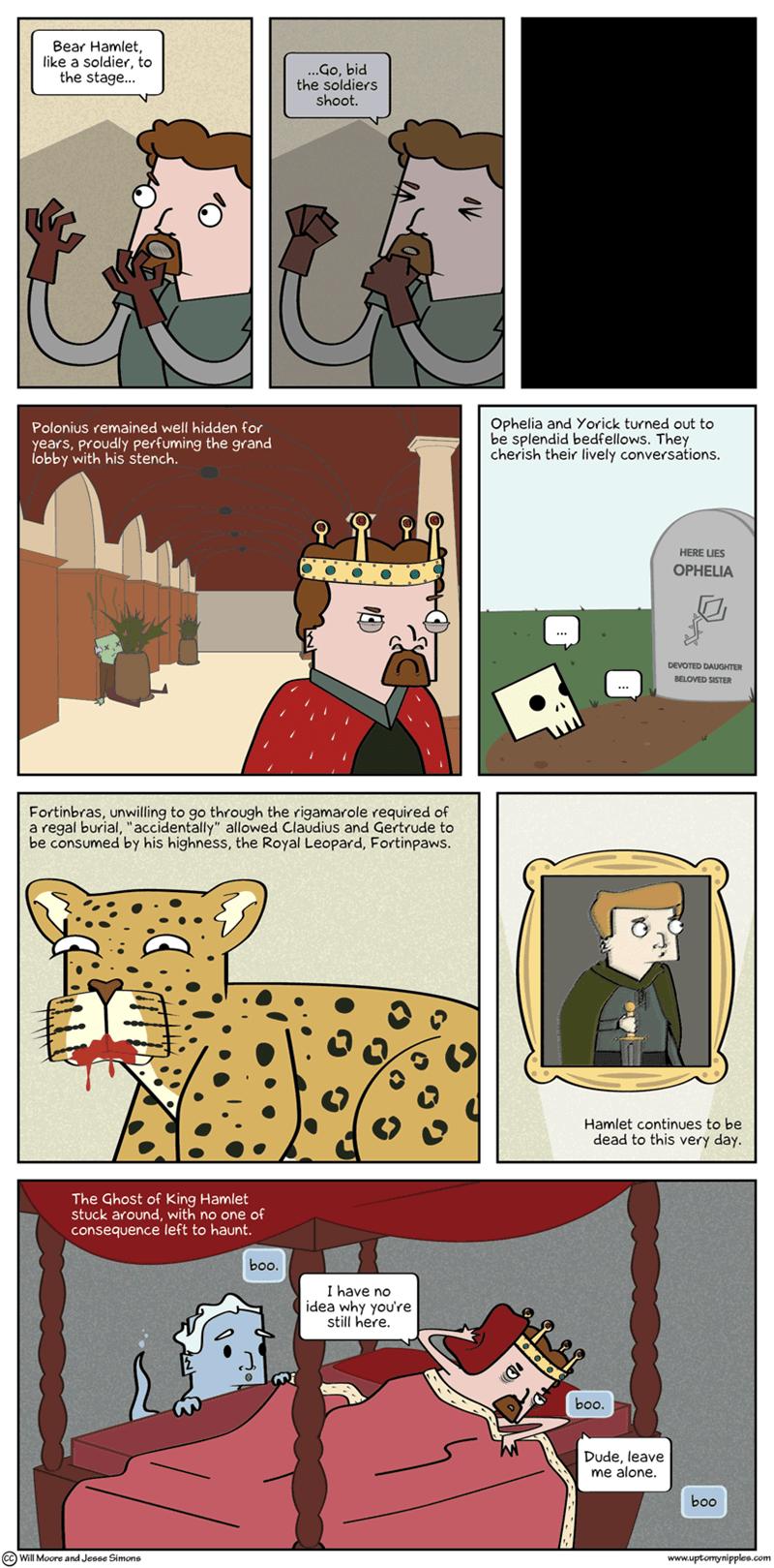 web comics shakespeare hamlet Hamlet's Epilogue