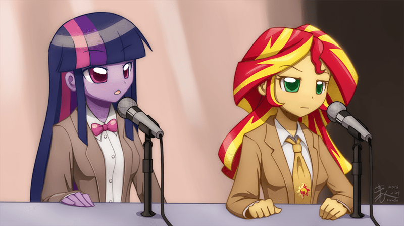 bill nye equestria girls twilight sparkle sunset shimmer Neil deGrasse Tyson