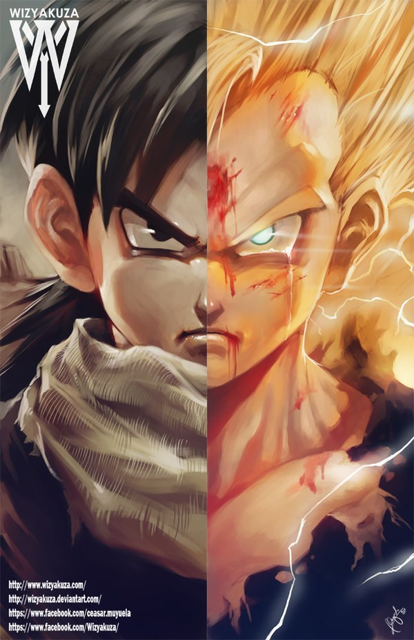 anime fan art gohan dbz