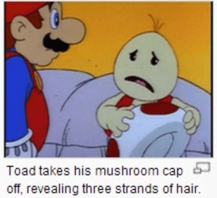 toad without his mushroom cap