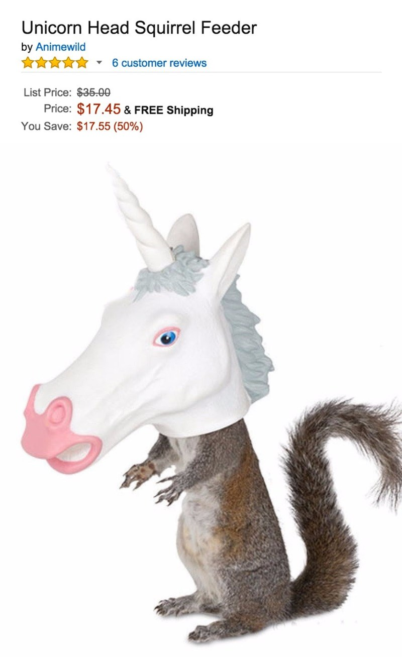 amazon products horse mask squirrel feeder
