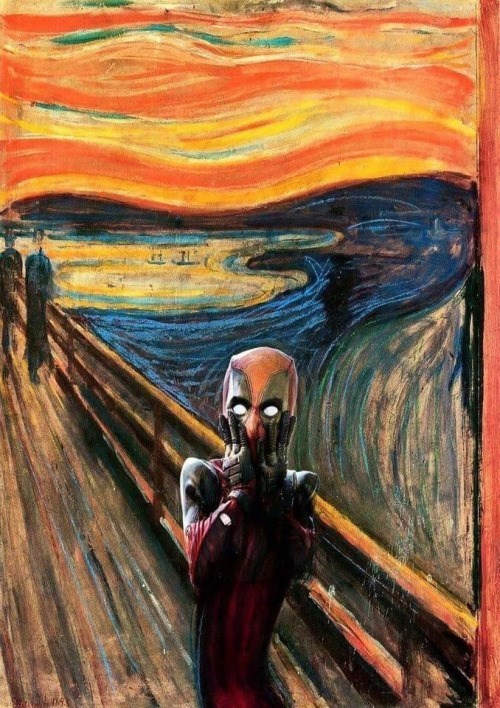 deadpool scream art scream