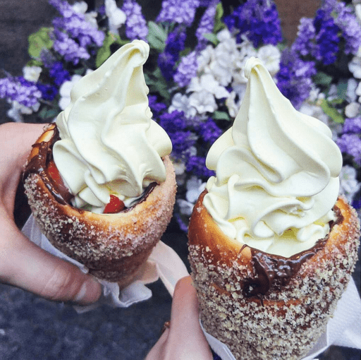 donuts ice cream These 'Donut' Ice Cream Cones Are the Latest in Trendy, Sugar Filled Food Combinations
