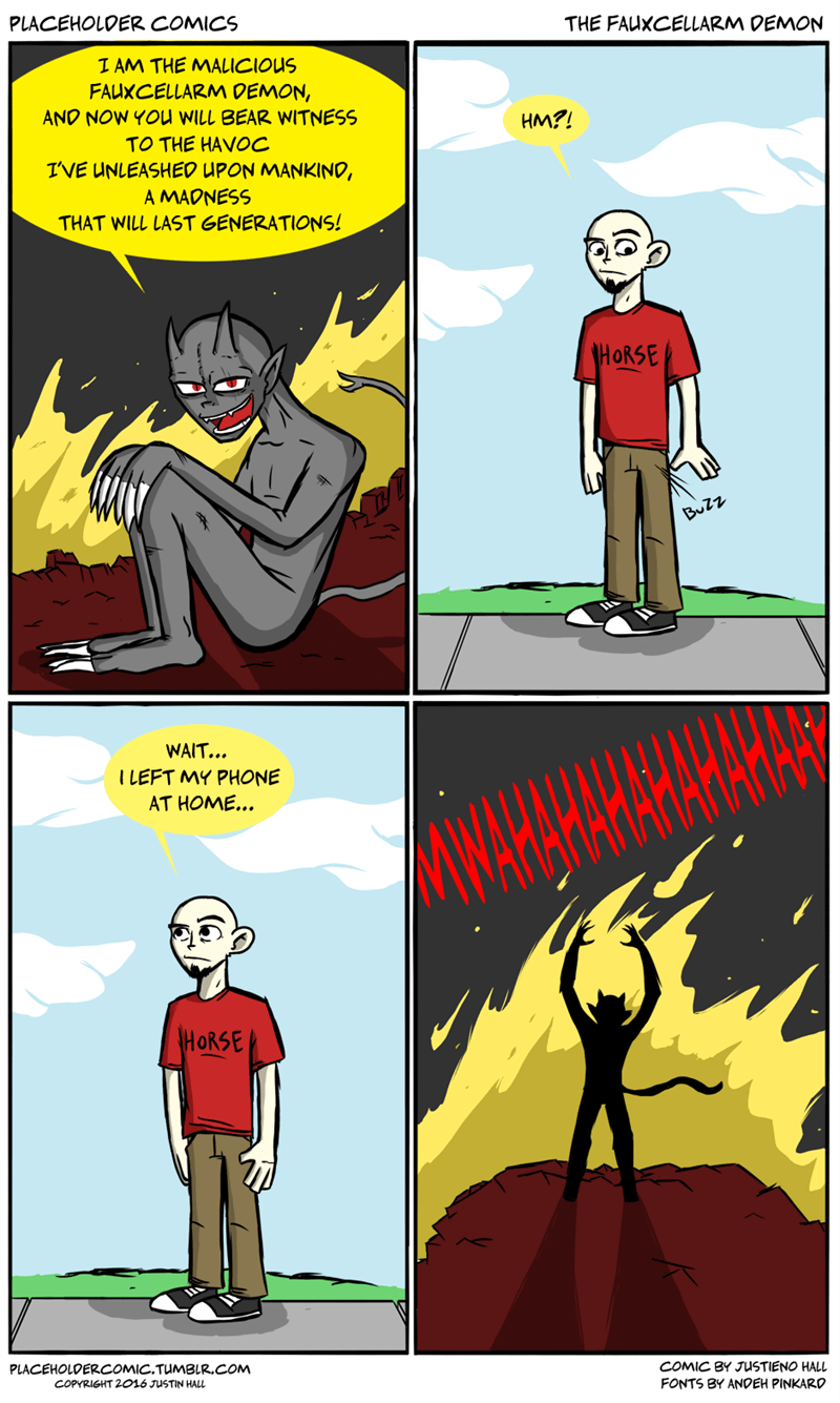 Placeholder comics - The Fauxcellarm Demon (OC)