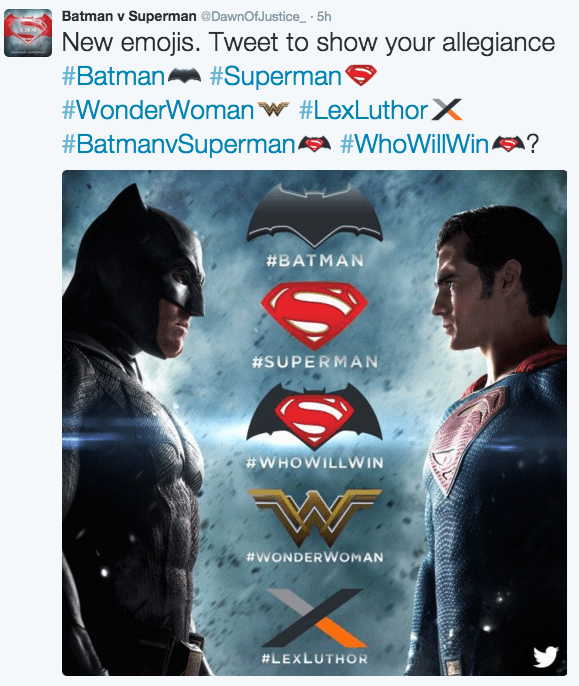 emojis superheroes Batman v Superman Emojis Are On Twitter