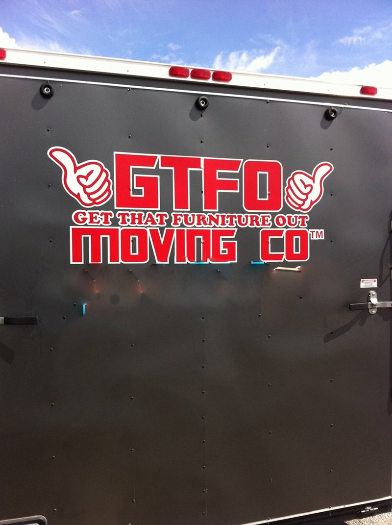 gtfo moving company logo