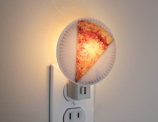 win image pizza night light