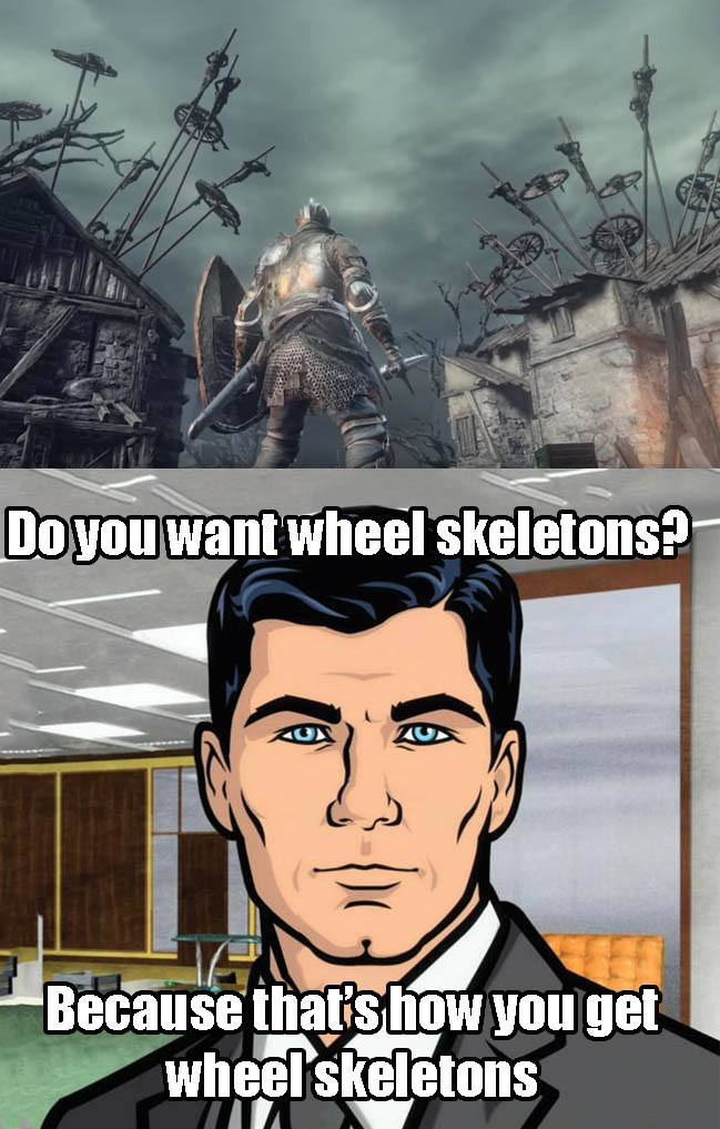 dark souls,archer,wheel skeletons