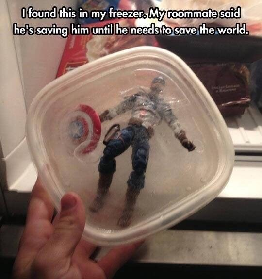 captain america ice Why Waste His Potential If There's No Super Villain to Fight?