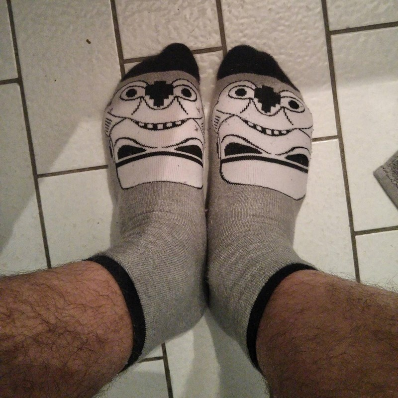 funny fail image star wars clone trooper socks faces