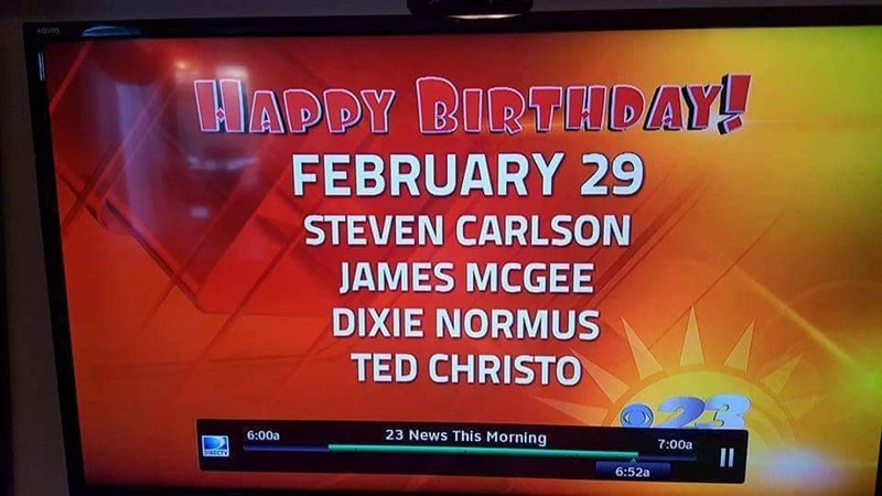 funny fail image fake birthday name on the news
