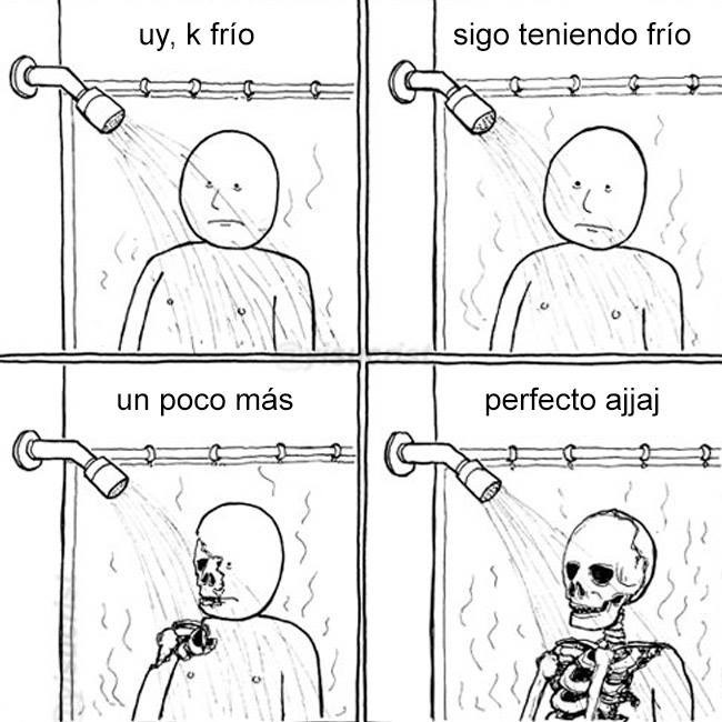 ducha en invierno