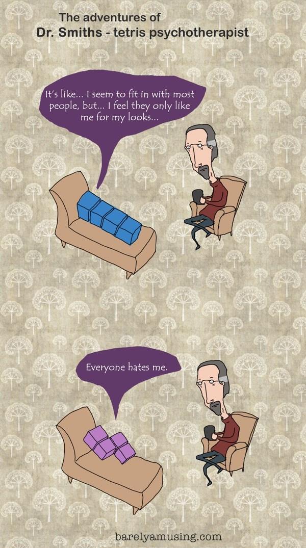web comics tetris psychology It's Hard to Be a Block
