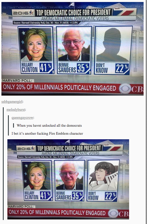 democratic candidates fire emblem character