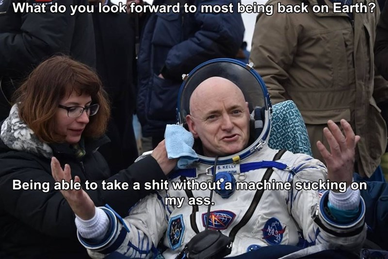 astronaut job space poop scott kelly