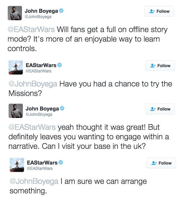 star wars john boyega asks for battlefront solo campaign on twitter