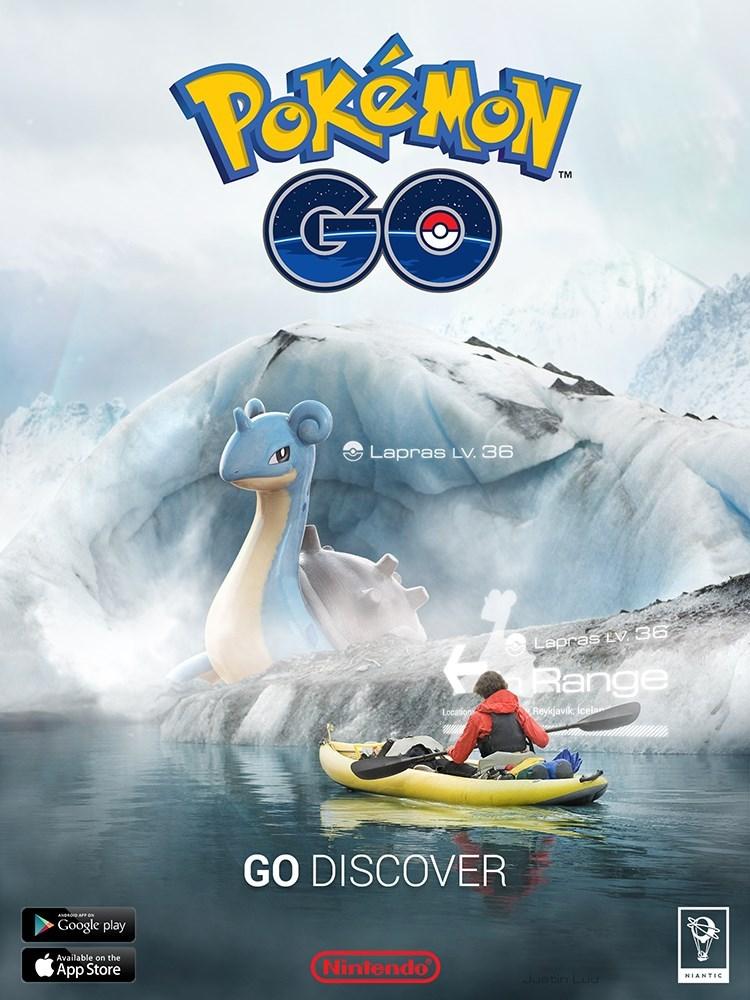 Boating - Pekemay GO TM Lapras LV. 36 Lapras Ev 36 Range Reyjavik lcela GO DISCOVER Google play Available on the Nintendo App Store Justn L NIANTIC