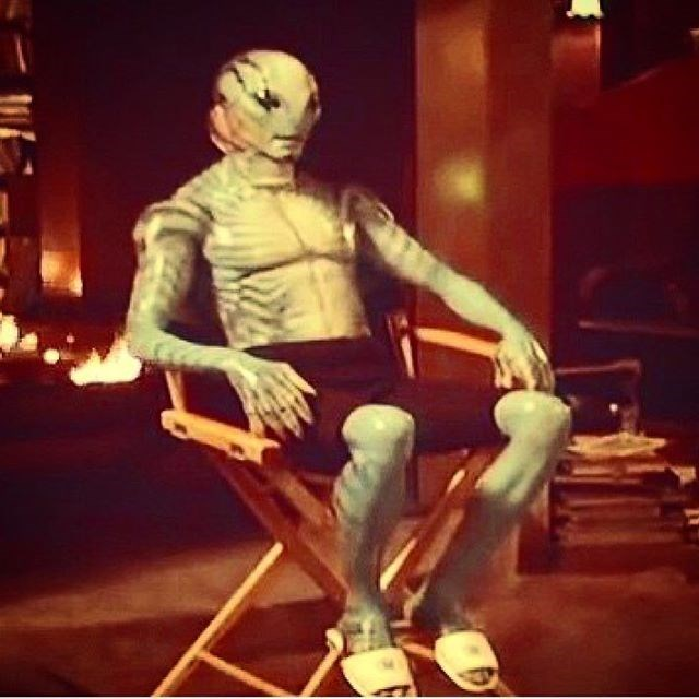 hellboy costume Actor Doug Jones Shares a #TBT of When He Was Wearing Slippers as Abe Sapien on the Set of Hellboy