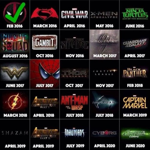 superheroes movies For Those Keeping Track at Home