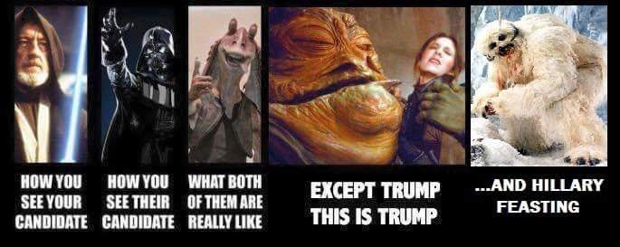 star wars donald trump Hillary Clinton politics - 8756207616