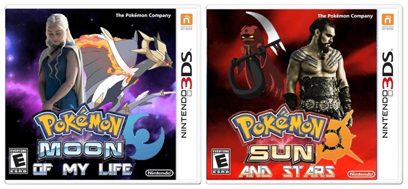 crossover Game of Thrones pokemon sun and moon - 8756224768