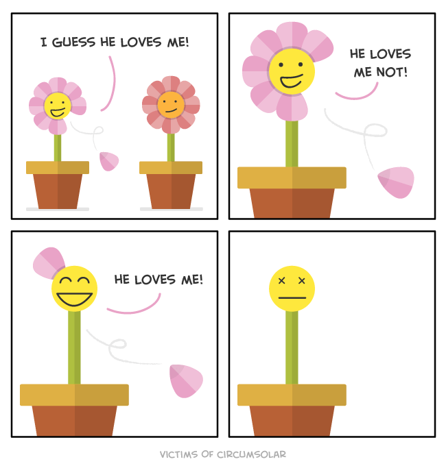 web comics flowers love At Least She Died Happy?