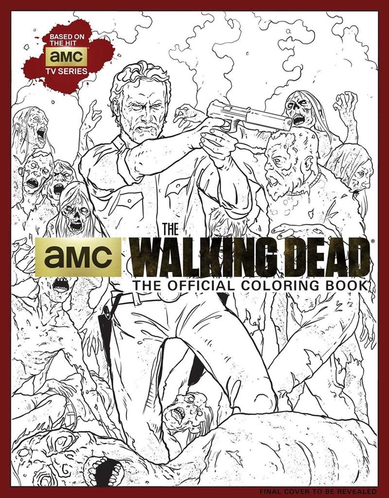 walking dead coloring book