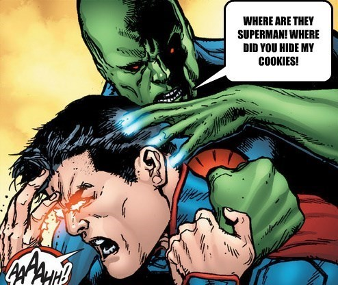 martian manhunter superman cookies - 8756483584