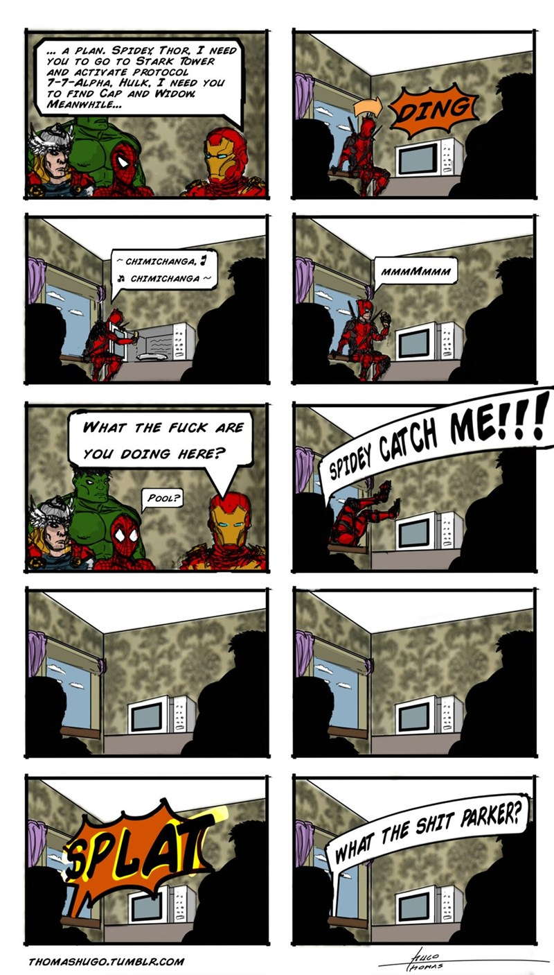 web comics deadpool avengers Language!
