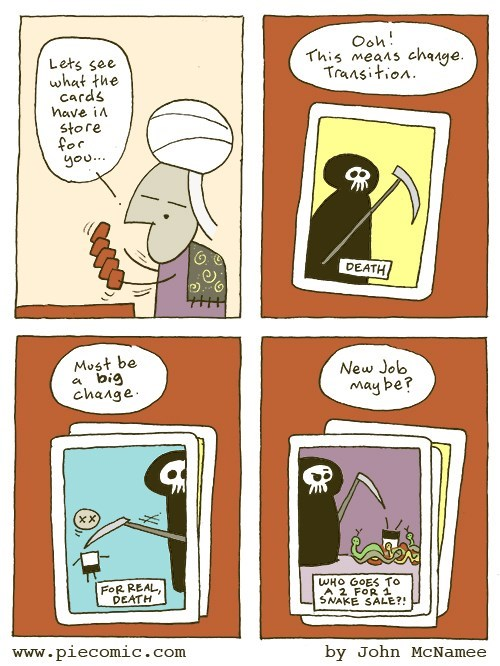 web comics fortune teller death Big Change in Store, Anyway