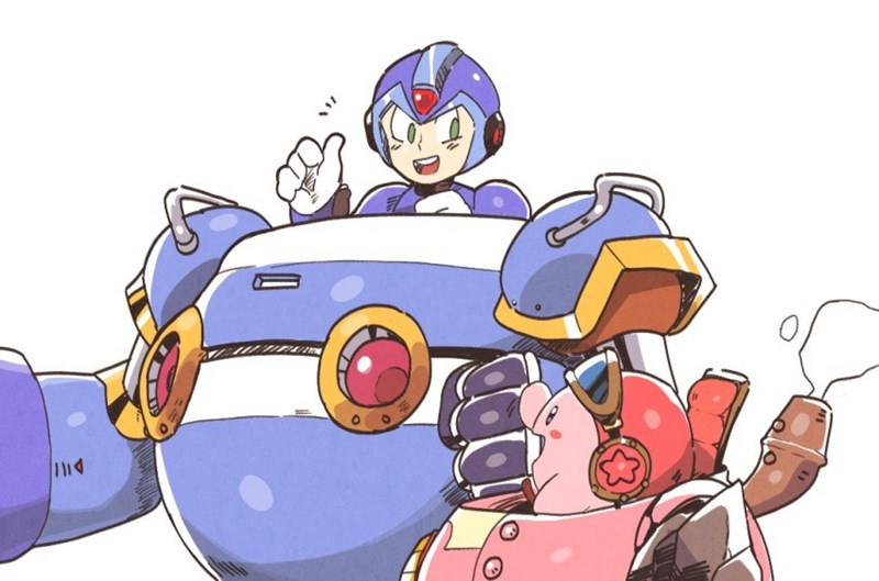 kirby Fan Art mega man kirby planet robobot - 8756537600