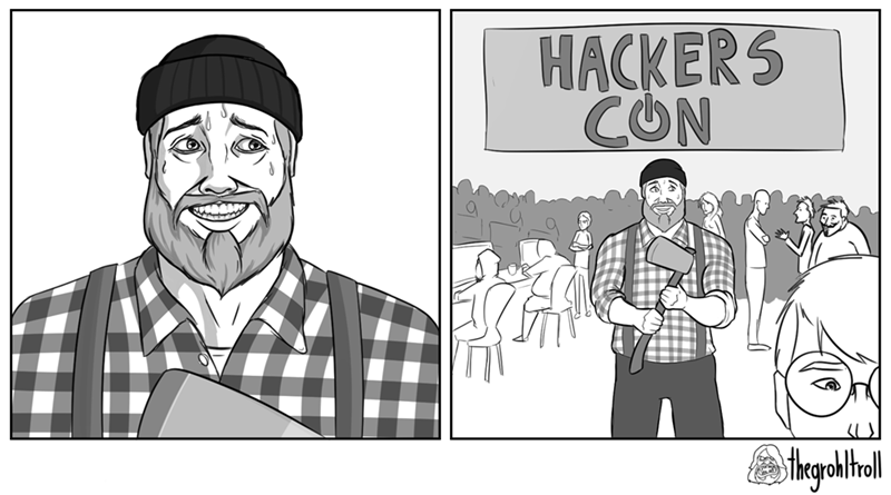 web comics puns lumberjack You Really Should Have Read the Event Description, Buddy