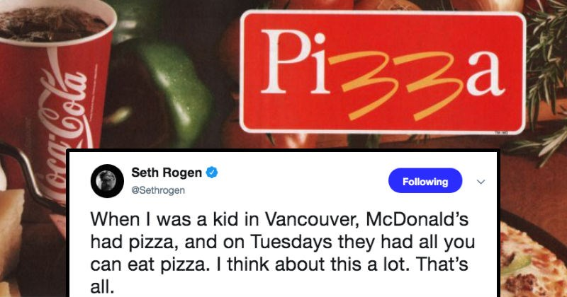 McDonald's used to sell pizza as Seth Rogen reminds