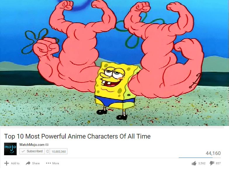 top 10 anime characters,SpongeBob SquarePants