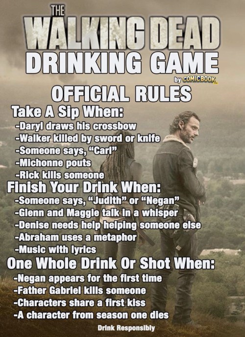 walking dead drinking game