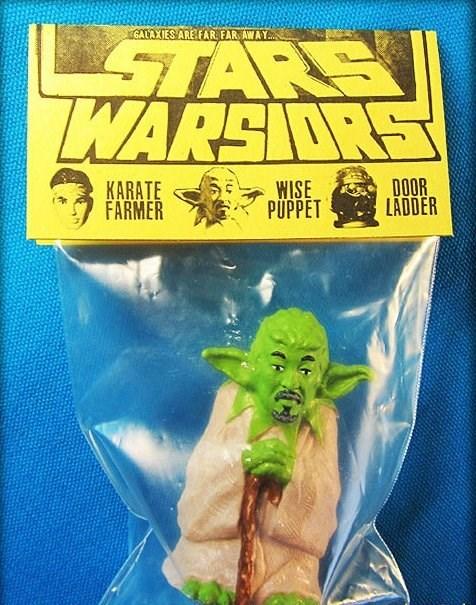 Yoda - GALAXIES AREFAR FAR AWAY STARS WARSRS DOOR LADDER WISE PUPPET KARATE FARMER