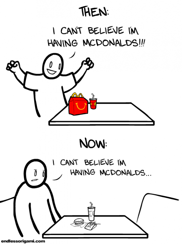 web comics fast food adulthood The More Things Change, The More They Stay The Same