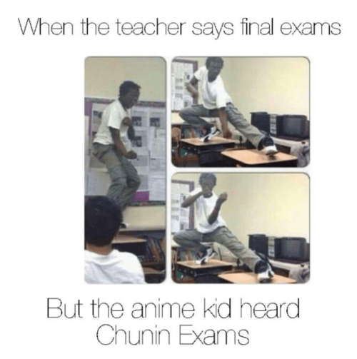 chunin exams at school