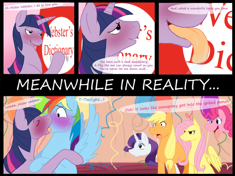 applejack drunk twilight sparkle dictionary pinkie pie rarity comic fluttershy rainbow dash