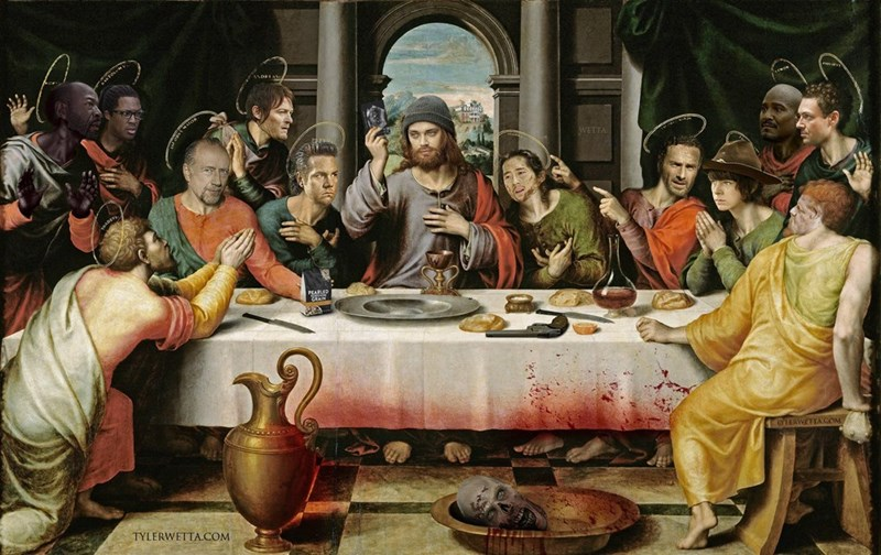 walking dead last supper