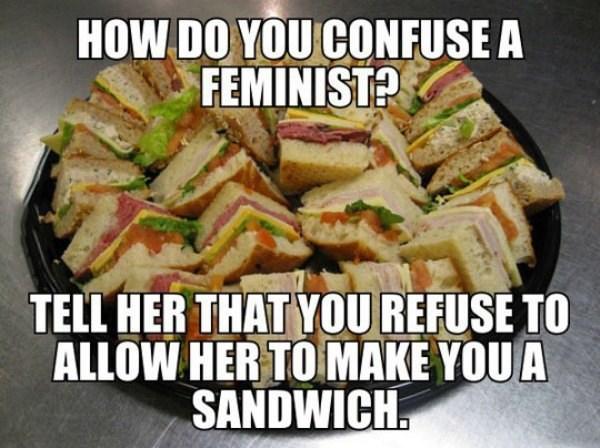 feminism,sandwiches