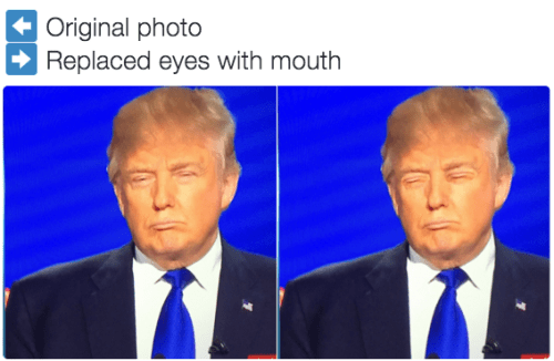 donald trump,eyes